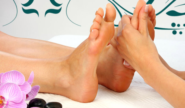 Reflexology of feet